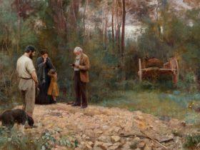 A bush burial, 1890 by Frederick McCubbin, Geelong Gallery