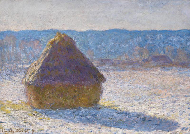 Claude Monet French 1840–1926 Grainstack (snow effect) 1891