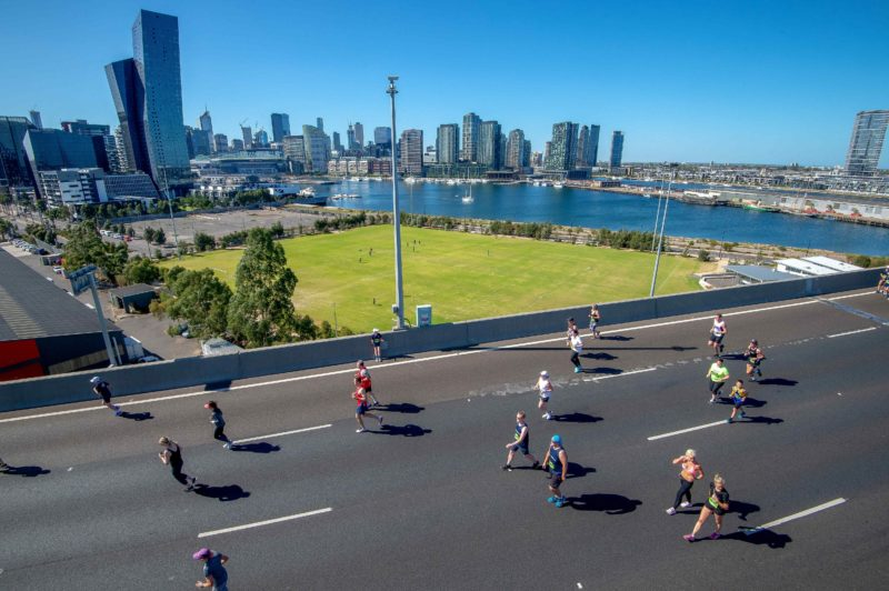 Spectacular views of Melbourne during the run