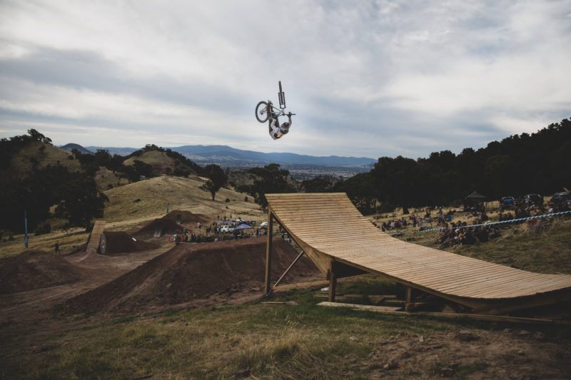 feature on the slopestyle course called the whale tail