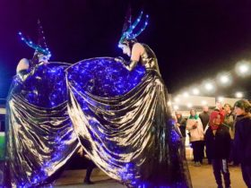Elementals at the Mansfield Lantern Parade