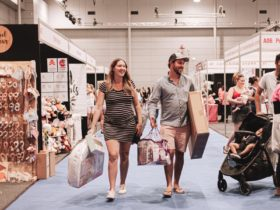 Pregnant women and partner shopping