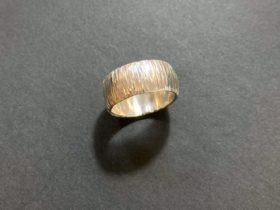Hammer textured silver ring made in the Silver Ring Workshop | Pod Jewellery | Jewellery Classes