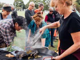 Wild Harvest Seafood Festival Mallacoota cooking