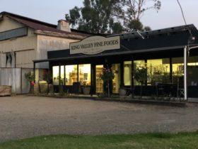 Dusk at King Valley Fine Foods Shop