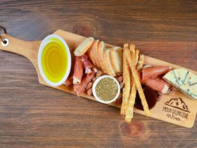 Cheese platters are available at the cellar door