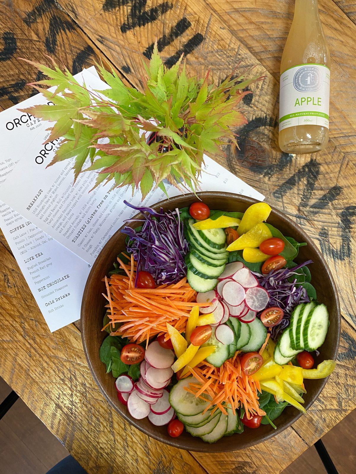 Orchard Salad using the best local produce