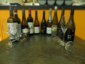 A great range of drinks, including local wines, beer and spirits