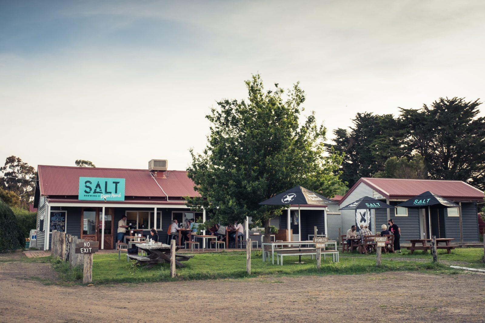 Image of Salt Brewing beer garden and entrance