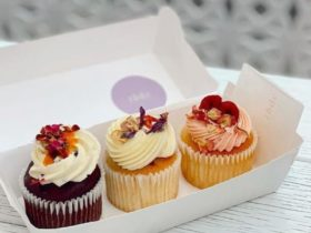 Pretty Cupcakes by The Butcher's Daughters Cakes