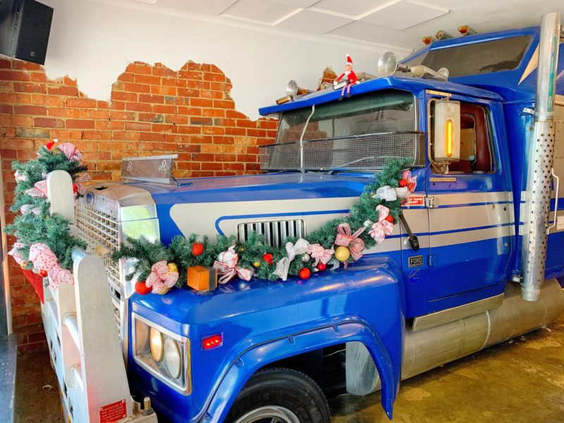 The famous Truck inside the shop