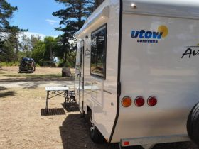 Utow Caravans at the foreshore