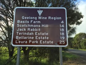 Geelong wine region sign