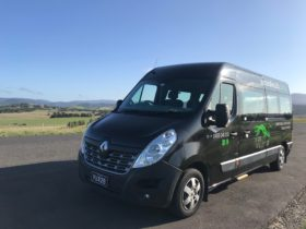 'Betty the Bus' under blue skies and clean air of the Yarra Valley