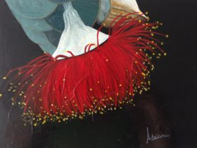 Acrylic Painting Workshop Eucalyptus Flower Perth Original 9txubpf