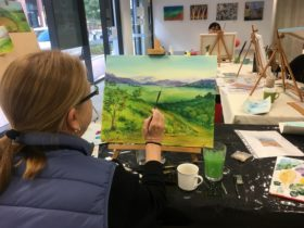 Painting Class: Structural Landscape, Coolbellup, Western Australia